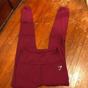 Maroon Gymshark leggings